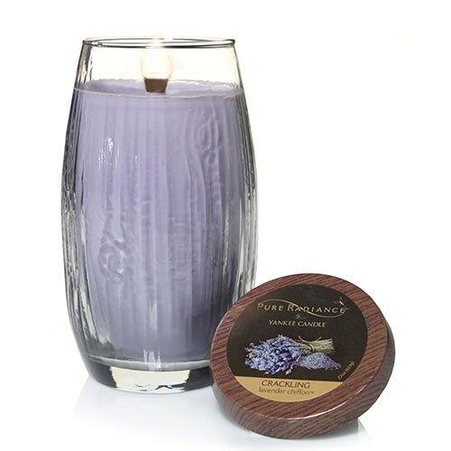 Yankee Candle Lavender Chiffon Large Crackling LumiWick Vase (Essential Large Vase Candle)
