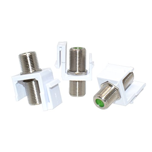 LOGICO 50pcs Snap-in F-Type Insert Keystone Connector Module Coax Cable Wall ()