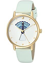 kate spade new york Womens Metro Quartz Stainless Steel and Leather Casual Watch, Color:Blue (Model: KSW1286)