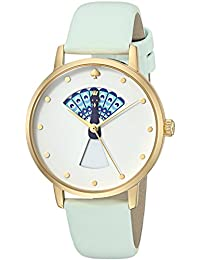 Womens Metro Quartz Stainless Steel and Leather Casual Watch, Color Blue (Model