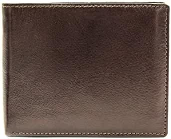 Men's Genuine Leather Brown Slim Bifold Wallet classic design Best Gift Choice for Men