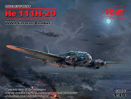 ICM 48264 - He 111H-20, WWII German Bomber World War II 1/48 Scale Model kit