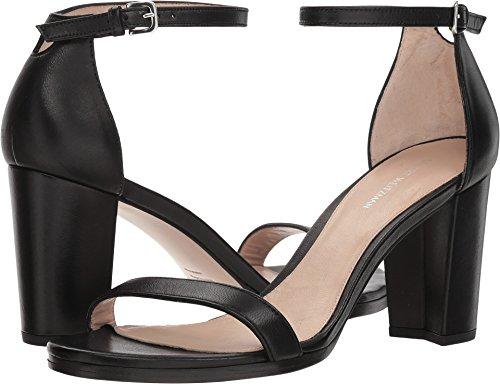 Stuart Weitzman Women's Nearlynude Black Nappa 6 M - Nappa Suede Footwear Black