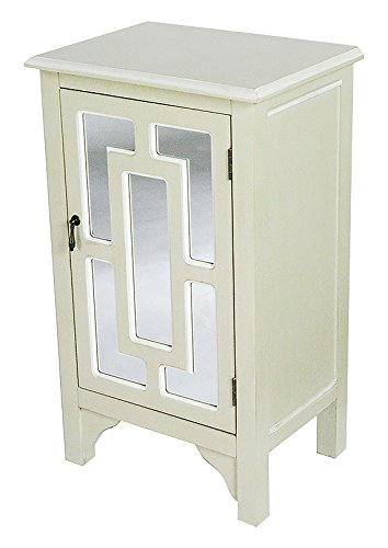Heather Ann Creations W191318M 1222 30u0026quot; Beige Becker Collection  Handcrafted Greek Key Wood Living