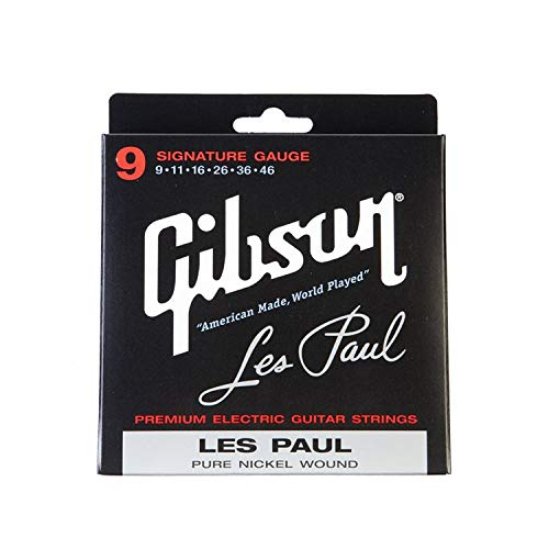 Gibson Les Paul Premium Electric Guitar Strings, Signature Gauge 9-46 (Best Electric Guitar Strings For Beginners)