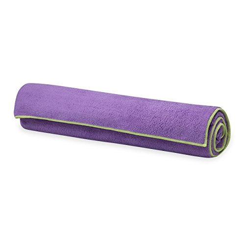 Gaiam Stay Yoga Towel Purple