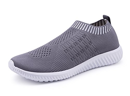 XMDR Women's Fashion Sneakers Breathable Mesh Casual Sport Shoes Comfortable Walking Shoes 016darkgray