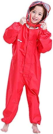 Vine Kids One Piece Rainsuit Coverall Baby Waterproof Jumpsuit (2-12 Years)
