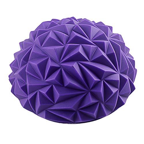 Gmgod❤️❤️Massager Spiky Massage Ball PVC Foot Trigger Point Stress Relief Yoga Massager (Purple)