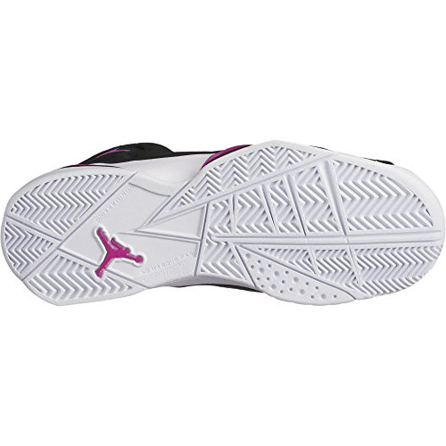 Jordan Nike Barn Sann Flygning Gg Basket Sko Svart Fuchsia Blast Vit