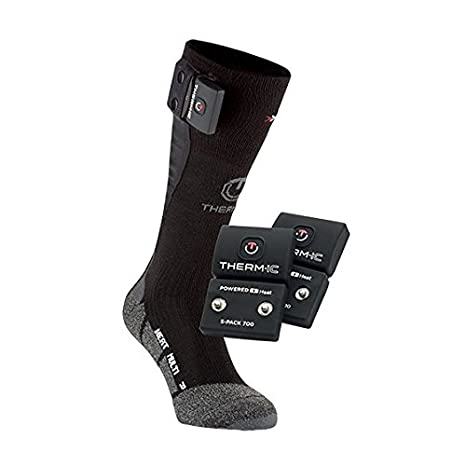 Therm-ic Thermic T45?–?0202?–?100?calze unisex, unisex, T45-0202-100, nero, 35-38