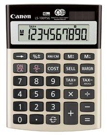 Canon LS100TSG 10-Digit Calculator, Dual Power, 4-1/8''x5-1/2''x1-1/3'', Black