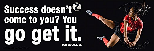 Motivational Sports Laminated Soccer Poster Featuring a Quote From Educator Marva Collins
