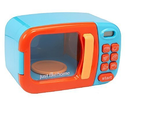 Just Like Home Microwave   Blue With Play Food  10  Pieces