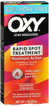 OXY Acne Medication Maximum Action Spot Treatment, Spot Treatment 0.65 oz (Pack of 4)
