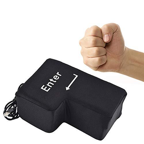- Dreamsdox Big Enter Key Key Cushion Button Office Foam Nap Cushion Anti Stress Relief Size Ventilation Tool with Unbreakable USB Decompression