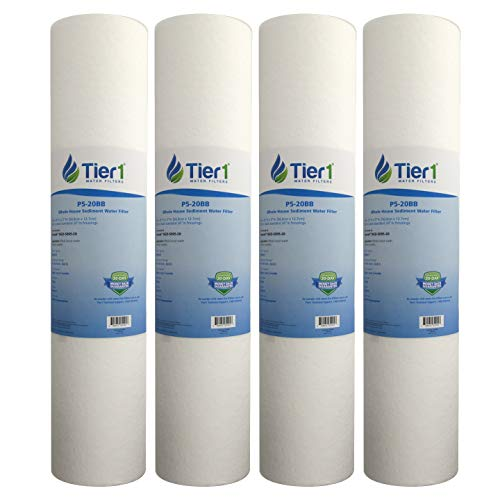 Tier1 Replacement for Hydronix DGD-5005-20 SDC-45-2005 5 Micron 20 x 4.5 Spun Wound Polypropylene Water Filter 4 -