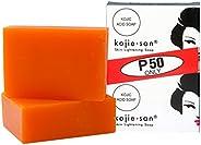 2 Bars Kojie San Kojic Acid Soap 65 grams per bar original skin bleaching kojic soap for dark skin by BEVI