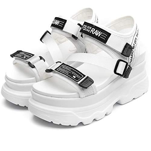 BEOTARU Women's Platform Sandals Fashion Summer Buckle Thick Soled Beach Casual Chunky Wedge Sandal]()