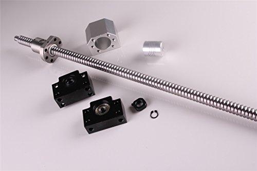 BallScrew RM1605 SFU1605 1000mm End Machine with Ballnut+BK//BF12 End Supports+6.35x10mm Coupler+Ball Nut Housing US Stock