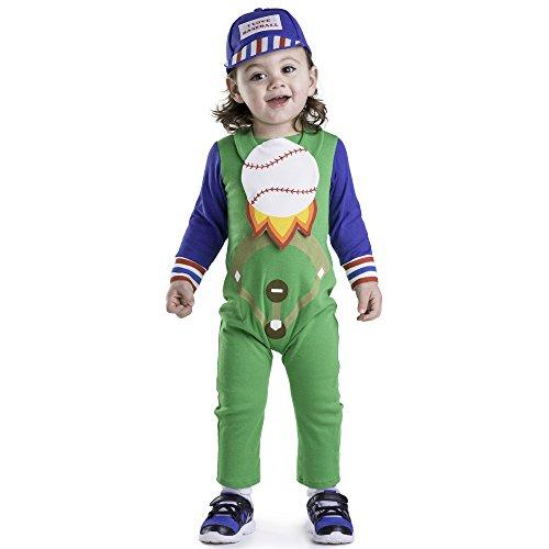 Baseball Costume 12 Months (Dress Up America Baseball Baby Costume - Size 6-12 Months)