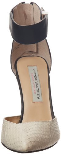 Lavanderia Cinese Kristin Cavallari Womens Celestial Pump Cream / Black Leather