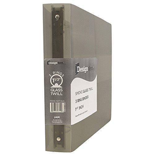 JAM Paper Designders - Plastic 3 Ring Binder - 1 1/2 Inch Width - Smoke Grey - Sold Individually