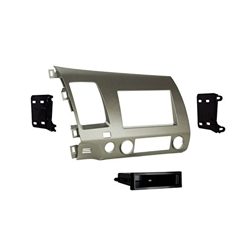 Metra 99-7871T Single DIN/Double DIN Installation Kit for 2006-UP Honda Civic Vehicles Taupe ()