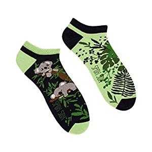 Spox Sox Low Unisex – des socquettes colorées coton pour les individualistes – multicolores, drôles, fantaisie…