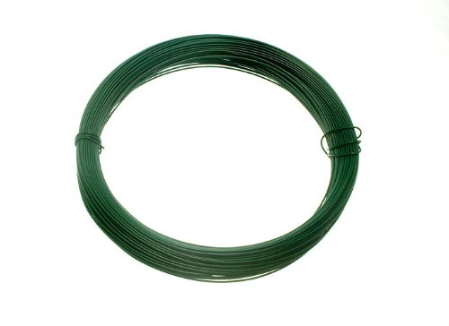 GREEN PLASTIC COATED GARDEN FENCE WIRE 1.2 MM x 0.75 MM x 30 METRES ( 1 roll )