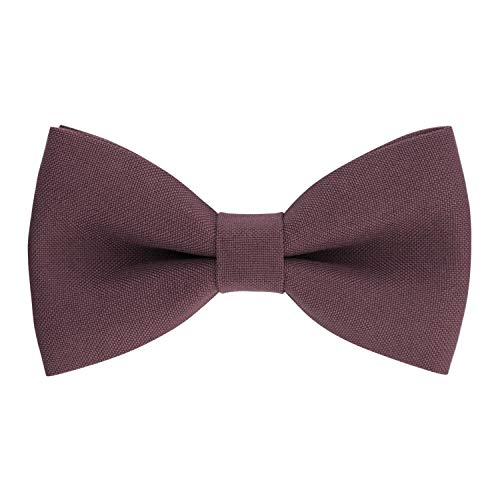 - Classic Pre-Tied Bow Tie Formal Solid Tuxedo, by Bow Tie House (Large, Mature Grape)