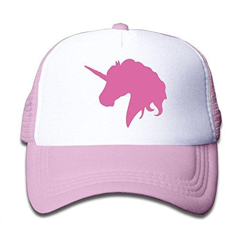 (NVJUI JUFOPL Kids Pink Unicorn Polo Horse Trucker Hats, Youth Mesh Caps, Snapback Baseball Cap Hat Pink)