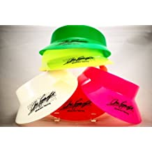 1991 - Huffer / Shierson Racing Sun Visors - Group of 9 - Arie Luyendyk / Indy 500 Winner - Neon Pink / Ornage / Yellow / Green / White - Limited Edition - Collectible - OOP