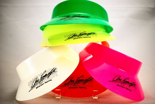 1991 - Huffer / Shierson Racing Sun Visors - Group of 9 - Arie Luyendyk / Indy 500 Winner - Neon Pink / Ornage / Yellow / Green / White - Luyendyk Indy