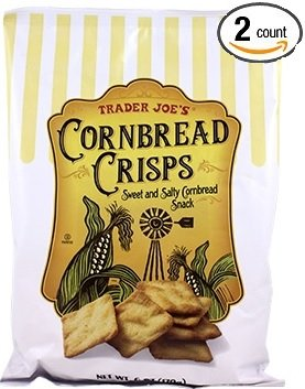 Trader Joe's - Cornbread Crisps - Sweet and Salty Snack 6oz (2 Bags) (Trader Joe Bread)