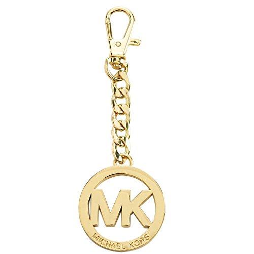 Michael Kors Signature MK Key Fob Keychain Hanging Charm (Gold)