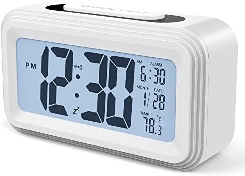 Annsky Despertador Digital, LCD Pantalla Reloj Alarma Inteligente ...