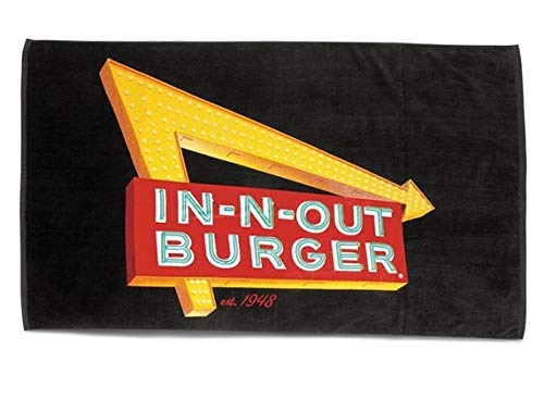 - In N Out Burger Large Neon Sign Beach Towel 58x33 inches with Free Bonus