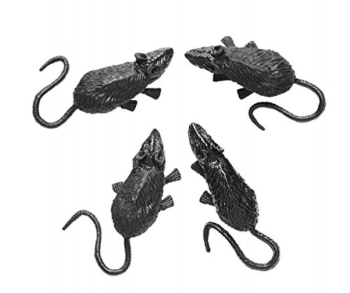 widmann Inception Pro Infinite Set of 4 mice Rodents Fake 9 cm Halloween Carnival ()