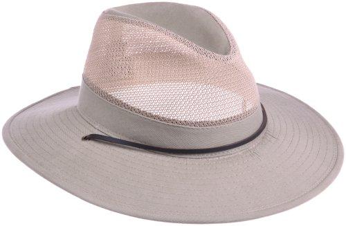 Dorfman Pacific Men's Twill Mesh Safari Hat With Chin (Dorfman Pacific Mesh Safari Hat)