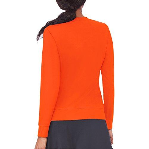 A Orange Maglia Donna Fila Xl Core Maniche Lunghe Da Team UB11qw65