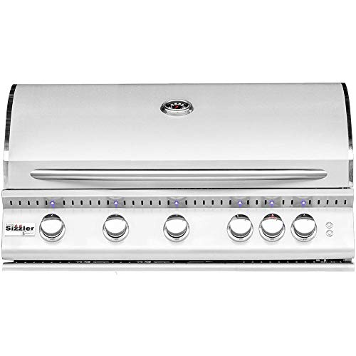 Summerset Sizzler Pro 40-inch 5-burner Built-in Natural Gas Grill With Rear Infrared Burner – Sizpro40-ng