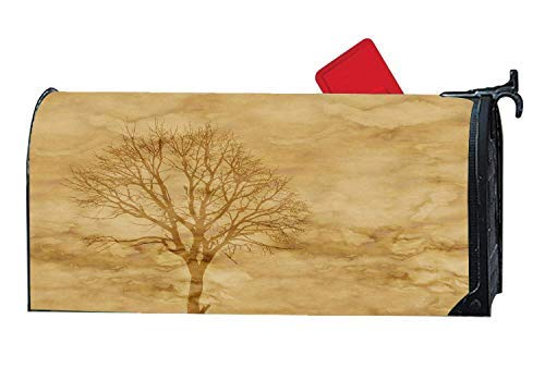 Tollyee Sunset Dusk Log Cabin Lake Mailbox Cover Decorative Magnetic Mailbox Wrap Fits-Sized Mailboxes, Magnetic Mailbox Cover 9
