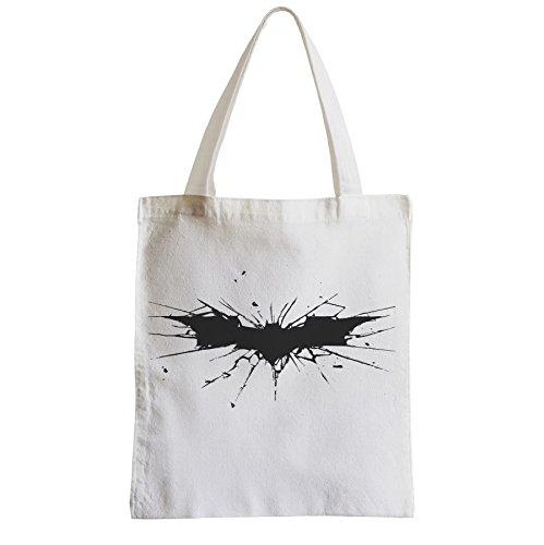 Große Tasche Sack Einkaufsbummel Strand Schüler Batman Dark Knight Logo