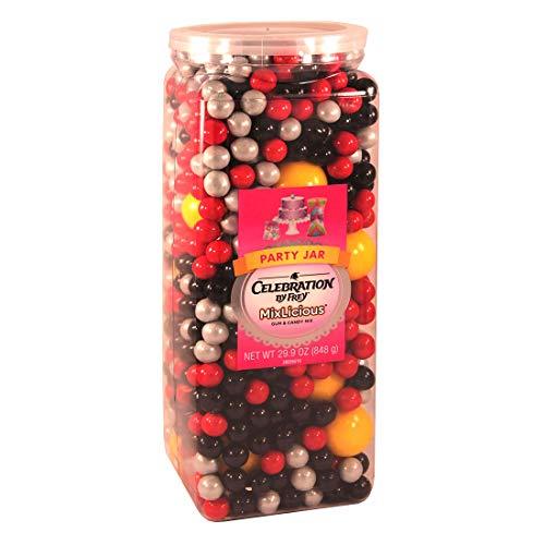 Celebration By Frey Mixlicious Super Hero Mix. Gumball & Chocolate Candy Mix 29.9 oz Party Jar -