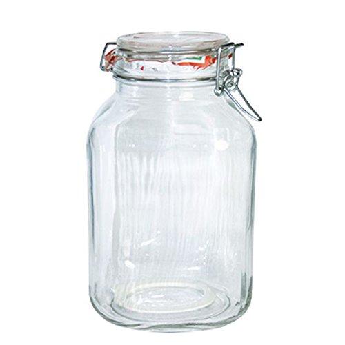 Bormioli #203444# Einmachglas mit Bügelverschluss, Original Fido, 3 L