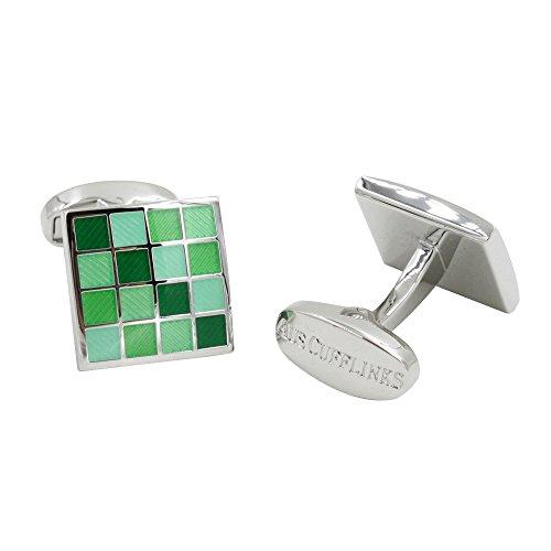Jade Coral Green Cufflinks | 5 Yr Warranty | Gift Box Inc | 35th Anniversary Gift by AUSCUFFLINKS (Image #2)