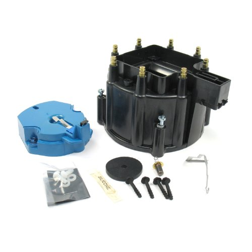 Pertronix D4000 Flame-Thrower Black HEI Distributor Cap and Rotor Kit