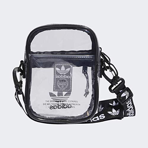 adidas Originals Unisex Clear Festival Crossbody Bag, Black, ONE SIZE (Best Bag For Music Festival)