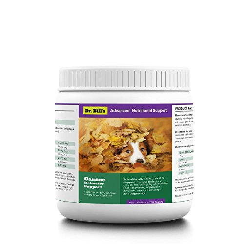 Dr. Bill's Canine Behavior Support Pet Supplement (60 Calming Dog Treats) – Calming Supplement for Dogs, with Chamomile, Lemon Balm, Valerian Root, L-Theanine, Taurine, Ginger Root, and Magnesium Review